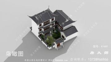 新中式苏式园林别墅设计图纸