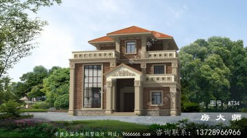 现代简欧三层复式别墅设计图