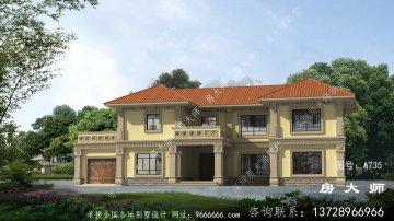 新农村二层简欧式别墅外观设计效