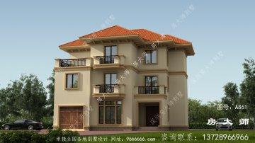 欧式古典风格三层别墅设计效果图