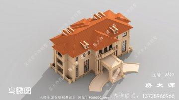 超奢华复式三层欧式别墅外观效果
