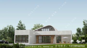 乡村平顶房二层别墅设计