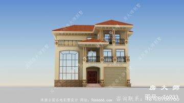 三层楼房设计图,实用舒适,房子