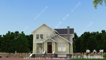 美式二层别墅房屋设计图