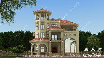 三层别墅住宅设计图,户型古典实