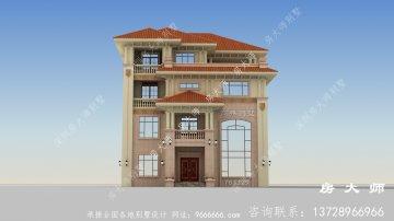 意大利风格农村四层别墅设计图