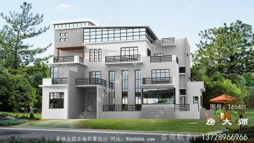 独特的现代风格别墅外观效果图