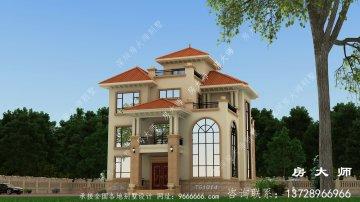 三层别墅房屋设计图,外型层峦叠