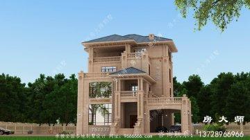 意大利风格石材别墅建筑设计图