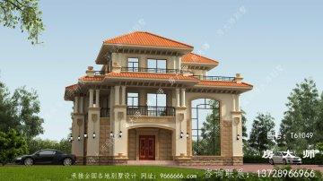 三层楼别墅的设计图,外观奢华大