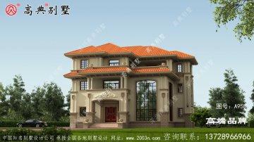 意大利风格三层别墅设计