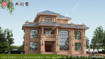 石材别墅农村普通房屋设计图三层