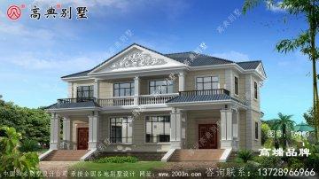 法式风格双拼别墅设计图
