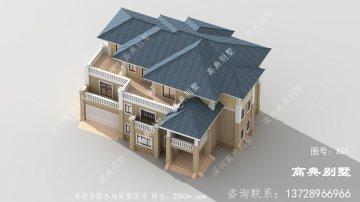 最新欧式风格三层农村别墅设计图