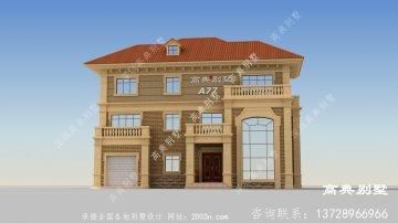 时尚典雅的三层欧式风格别墅