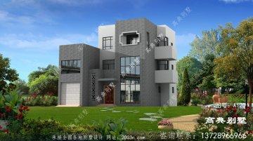 现代风格的三层住宅的设计图