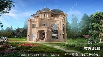 农村三层豪华欧式石材自建建筑设