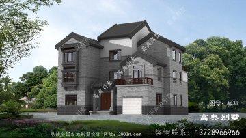 新中式风格三层复式别墅