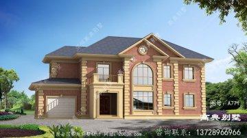 两楼豪宅设计图欧元别墅户型