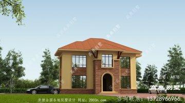 两层豪华别墅外观设计效果图