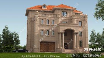 四层意大利风格石材别墅设计图