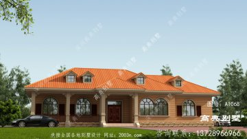 农村欧式风格一层别墅房屋设计图