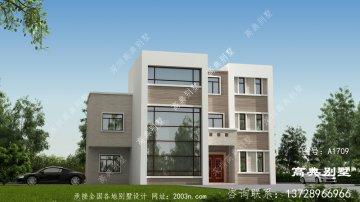现代三层别墅设计图计划方案配复