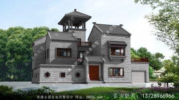 中式两层别墅设计图,屋