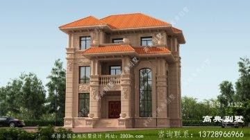 高端大气的农村意大利风格石材别墅