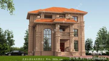 豪华大气石材别墅外观设计图