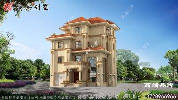 最新时尚独幢四层农村别墅设计图