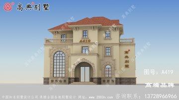 优雅欧式风格三层复式别墅设计图