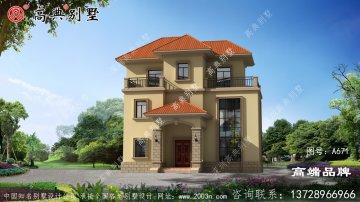 经典奢华欧式三层别墅外观设计精