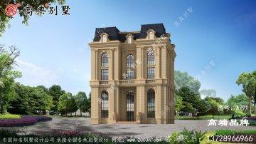五层乡村最新款别墅设计图,建一