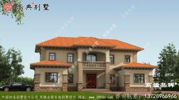 两层欧式石材农村别墅设计图纸