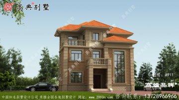 新型复式三层古典欧式建筑设计图