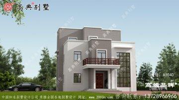 现代风格三层复式别墅设计图