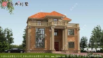 欧式风格三层复式别墅外观效果图