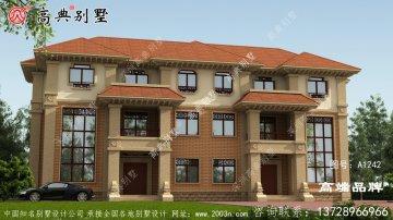 怎么建欧式风格三层双拼别墅才好