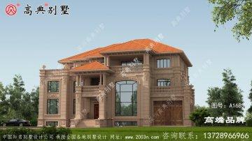 体面经典的三层欧式风格石材别墅