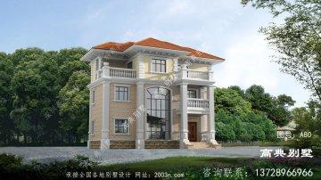 新型农村三层欧式风格别墅图纸