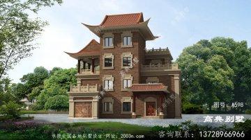 农村新中式风格自建四层别墅设计