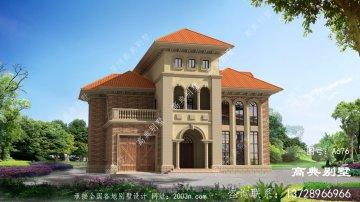 农村三楼方形别墅设计图,包括外