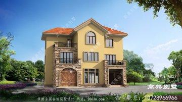 經典欧式三层别墅房屋设计图,高