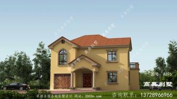 整体造型简约的两层小别墅设计图纸