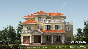 欧式风格三层舒适别墅楼房设计图