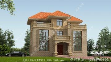 简约农村欧式别墅设计图,外型低
