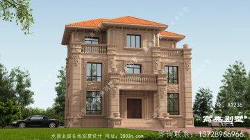 欧式石材三层自建别墅,真的太经