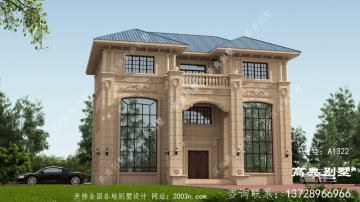新别墅外观设计图纸,欧式石材奢