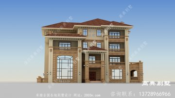 漂亮的意大利风格四层别墅设计图